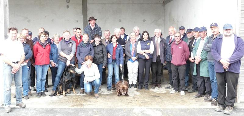 Souvenir Trait Normand photo des participants de la Fresque
