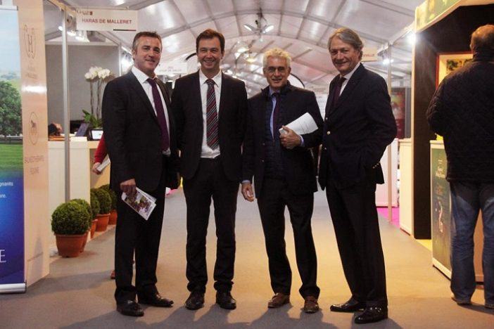 Ventes-Arqana-Deauville-octobre-2016-inauguration-Philippe-Augier-Eric Hoyeau-Olivier-Louit-Hugues-Rousseau